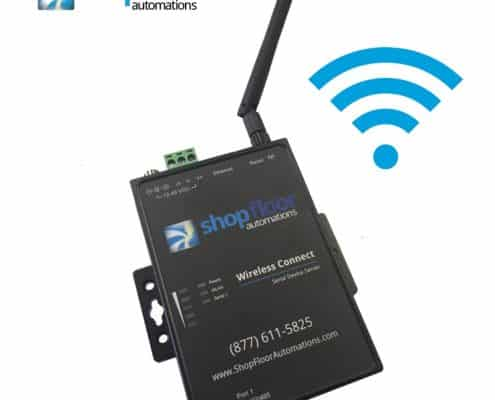 Wireless CNC Data - ethernet connect line