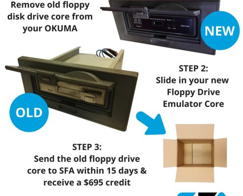 okuma floppy drive return