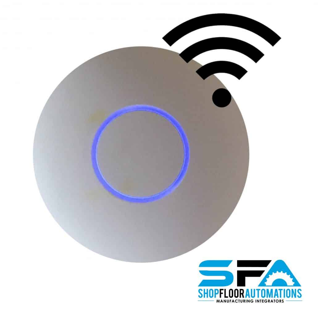 The wireless access point from shop floor automations for 11th floor apparel
