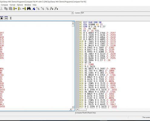 gcode file compare